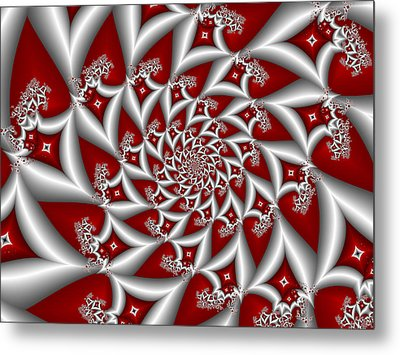 Red An Gray Metal Print