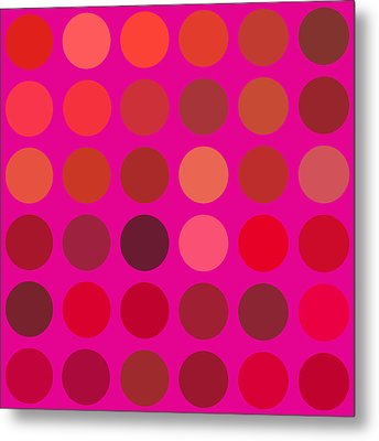 Red And Lilac Metal Print