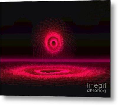 Red And Magenta Circle  Metal Print