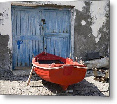 Red And The Blue Metal Print