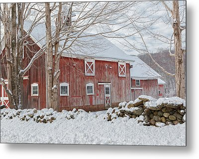 Red And White Metal Print by Bill Wakeley