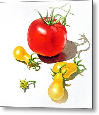 Red And Yellow Tomatoes Metal Print
