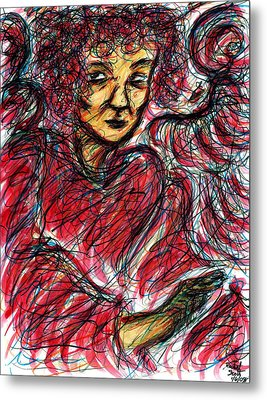 Red Angel Metal Print by Rachel Scott