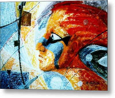 Red  Anguish Metal Print by Hartmut Jager