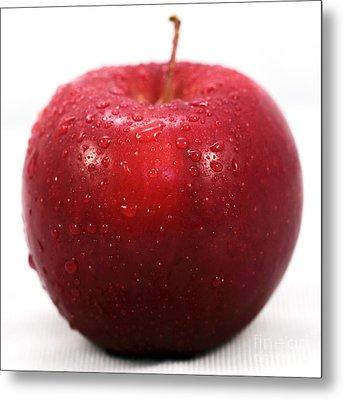 Red Apple Metal Print by John Rizzuto