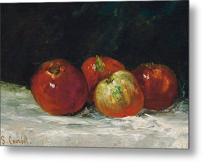 Red Apples Metal Print by Gustave Courbet