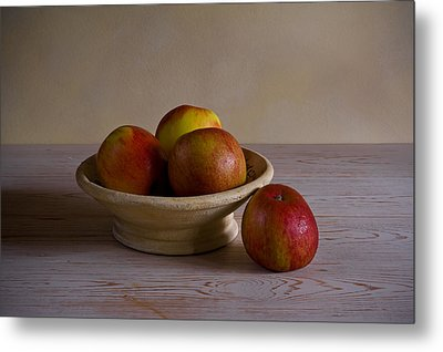 Metal Print featuring the photograph Red Apples by Trevor Chriss