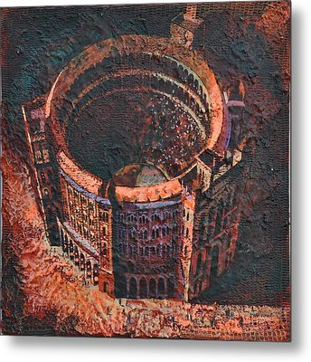 Metal Print featuring the painting Red Arena by Mark Howard Jones