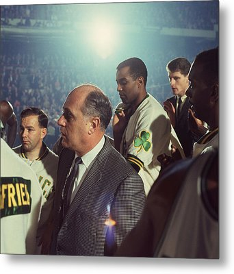 Red Auerbach Boston Celtics Legend Metal Print by Retro Images Archive