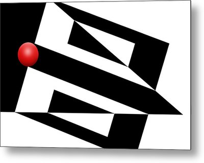 Red Ball 15 Metal Print by Mike McGlothlen