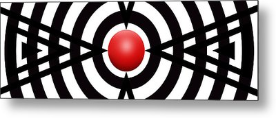 Red Ball 6 Panoramic Metal Print by Mike McGlothlen