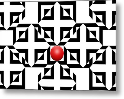 Red Ball 5a  Metal Print by Mike McGlothlen