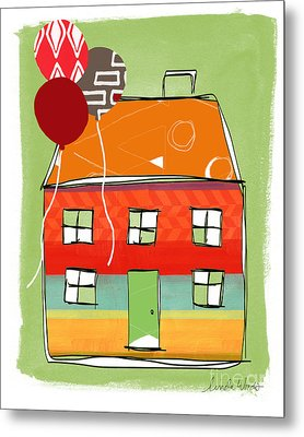 Red Balloon Metal Print by Linda Woods