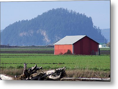 Metal Print featuring the photograph Red Barn by Erin Kohlenberg