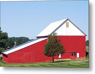 Metal Print featuring the photograph Red Barn by Gena Weiser