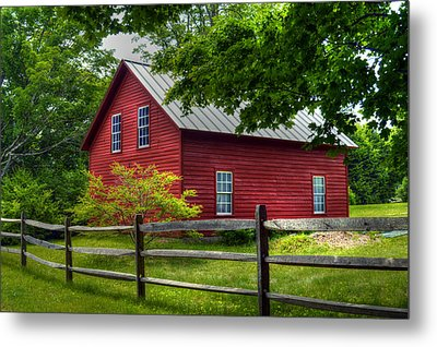 Red Barn In Tyringham - Berkshire County Metal Print