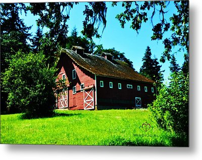 Metal Print featuring the photograph Red Barn  by Mindy Bench