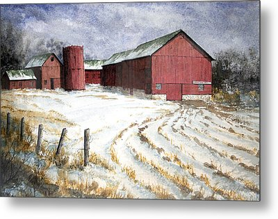 Red Barn On Rt. 49 Metal Print