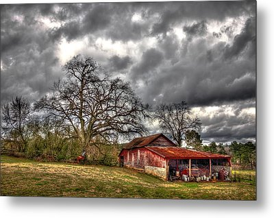 Red Barn On The Boswell Farm Metal Print by Reid Callaway