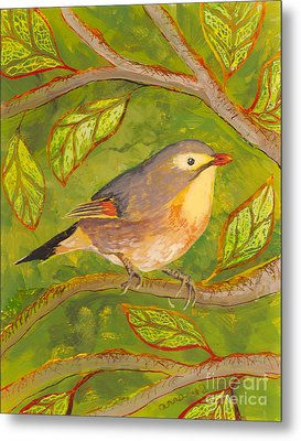 Red-billed Leiothrix Metal Print