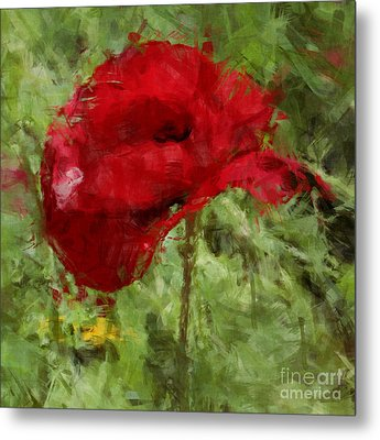 Metal Print featuring the photograph Red Bloomers by Julie Lueders