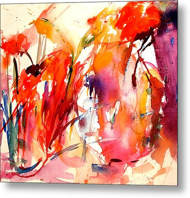 Red Blooms Metal Print by Tolere