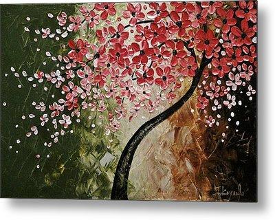 Red Blossoms  Metal Print by Tomoko Koyama