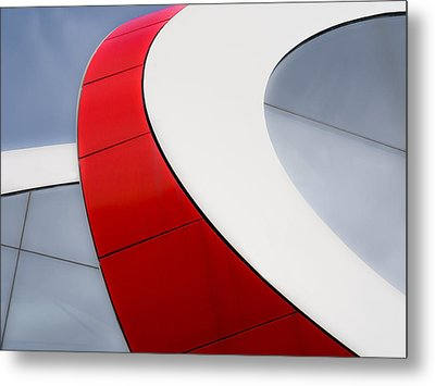 Red Bow Metal Print by Luc Vangindertael