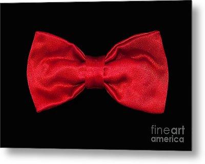 Red Bow Tie Metal Print by Dan Holm