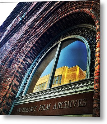 Red Brick Reflection Metal Print by Natasha Marco