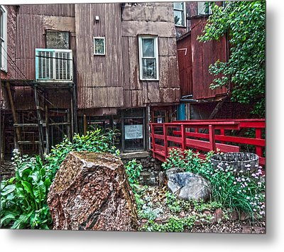 Metal Print featuring the photograph Red Bridge On Lover's Lane I by Lanita Williams
