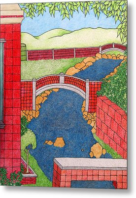 Red Bridges Metal Print
