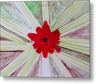 Red Brilliance Metal Print by Sonali Gangane