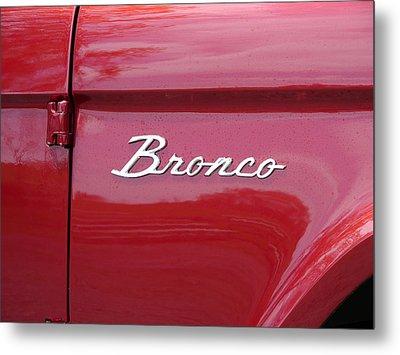 Red Bronco I Metal Print