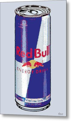 Red Bull Ode To Andy Warhol Metal Print by Tony Rubino