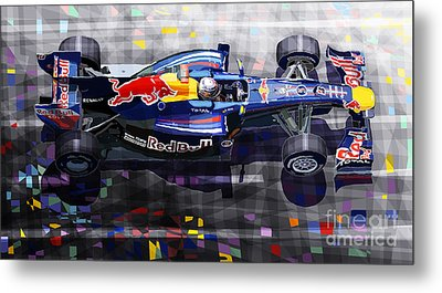 Red Bull Rb6 Vettel 2010 Metal Print by Yuriy  Shevchuk