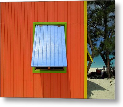 Red Cabin Metal Print by Randall Weidner