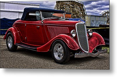 Red Cabrolet Metal Print
