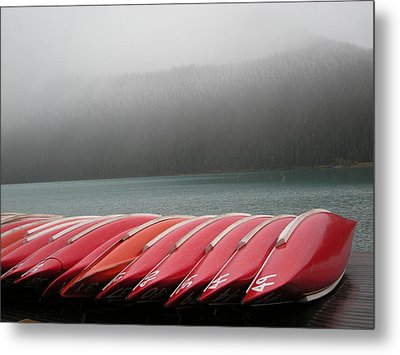 Red Canoes  Metal Print