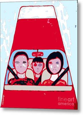 Red Car Metal Print by Patrick J Murphy