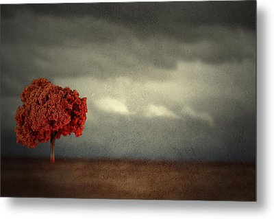 Red Carpet Thunder Metal Print by Mark  Ross