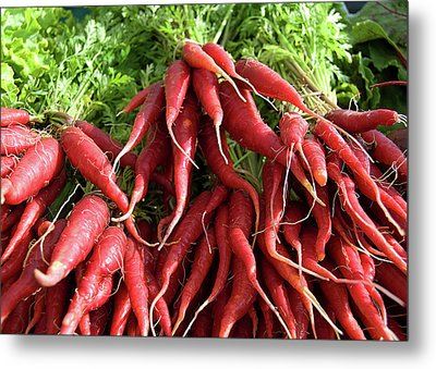 Red Carrots Metal Print