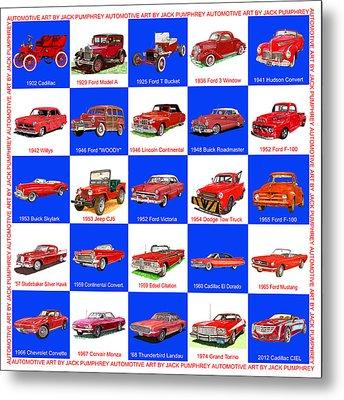 Red Cars Of America Metal Print by Jack Pumphrey