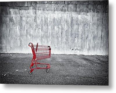Red Cart Metal Print