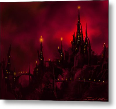 Red Castle Metal Print