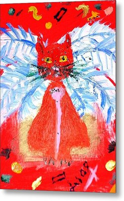 Red Cat I Metal Print