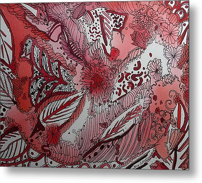 Red Chakra Metal Print by Terry Holliday