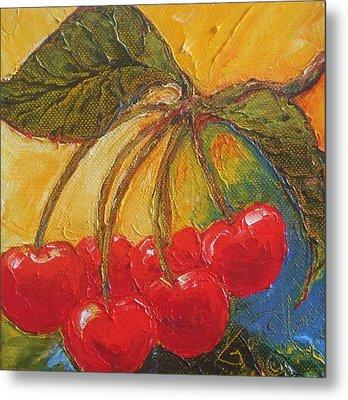Red Cherries Metal Print by Paris Wyatt Llanso