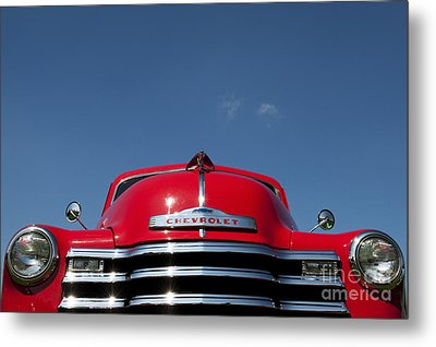 Red Chevrolet 3100 1953 Pickup  Metal Print by Tim Gainey
