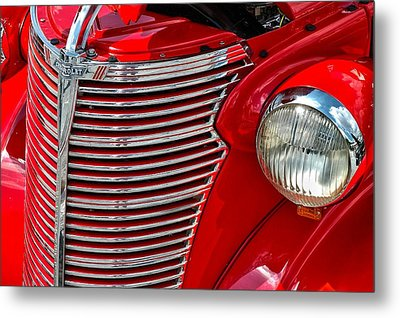 Red Chevrolet  Metal Print by Allen Carroll